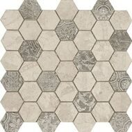 Мозаика Atlantic Tiles Mos. Atelier Oxford Hexagono (4,8x4,8 см) 34x34